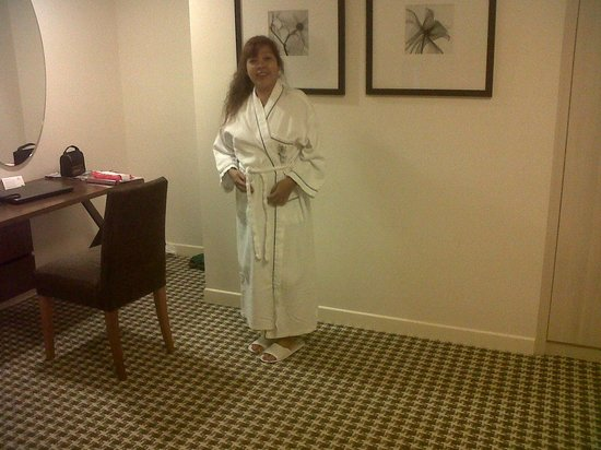 Somerset Liang Court Singapore : Wearing the included bath robe