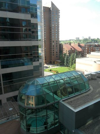 Sheraton Suites Calgary Eau Claire: View from room 824