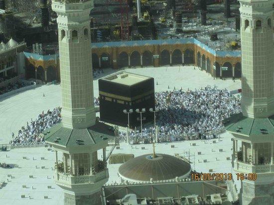 ZamZam Pullman Makkah: Al-Ka'bah at noon time from the hotel room