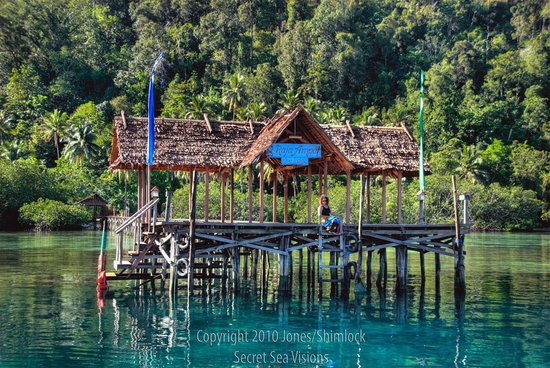Raja Ampat Dive Lodge: long jetty front