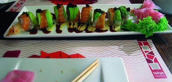 Tokyo Middle East: Avocado Sushi Dragon