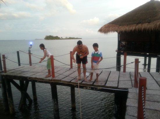 Loola Adventure Resort: Fishing by our hut