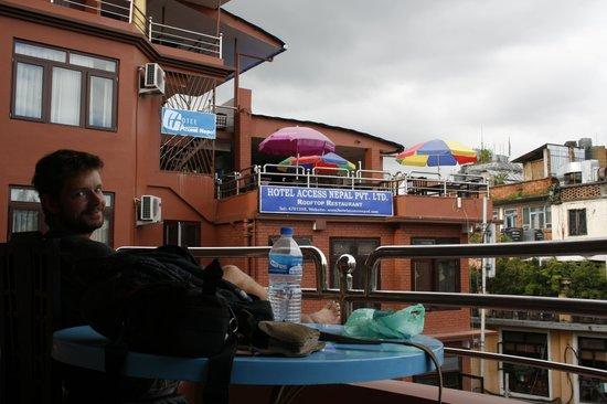 Hotel Access Nepal: ontbijtplek