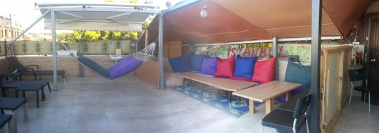 Second Home Hostel: Terrace for chilling