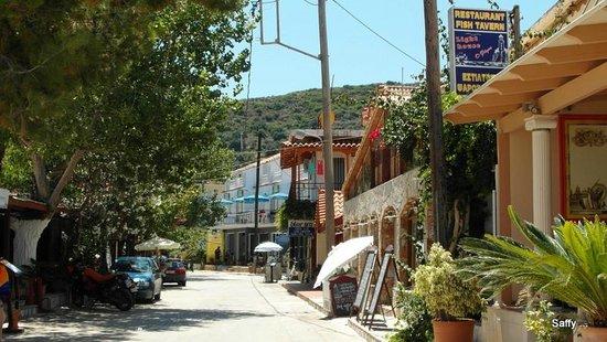 "Hercules Seafront Studios: View of the ""main street"" of Katelios"