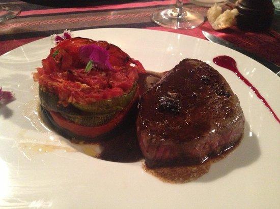 Restaurant La Treille Muscate : la pièce de boeuf