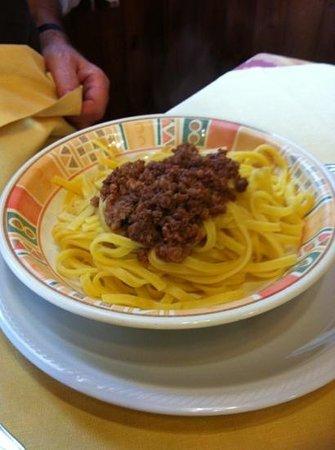 Ghertele : pasta fresca con ragù