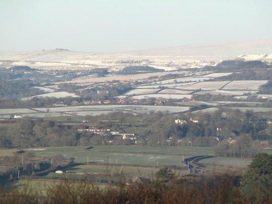 Worswell Barton Farmhouse: View towards Dartmoor