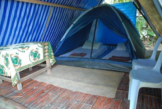 Sumbiling Eco Village: Tent facing the river