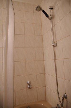Hotel & Reitsportzentrum Kreuth: Dusche mit Wanne