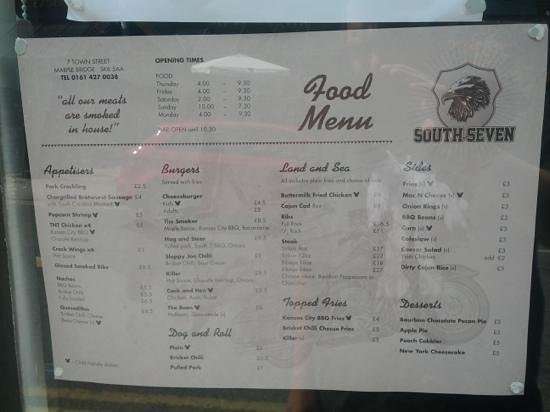 Marple, UK: Menu