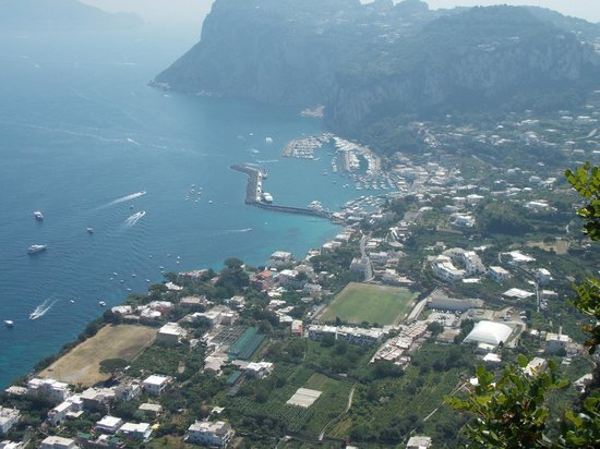 Cesare Augusto: Looking down on Marina Grande,Capri