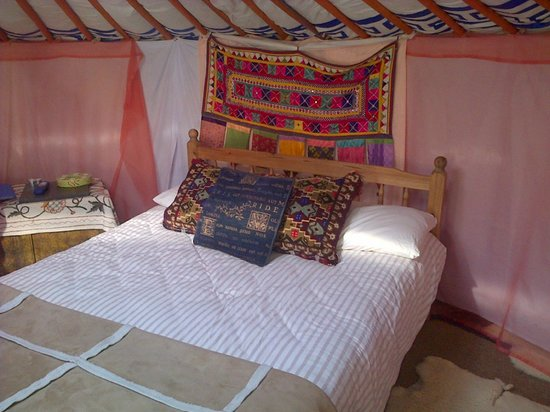Blackdown Yurts - Yurt Holidays in Devon: Inside Willow Yurt