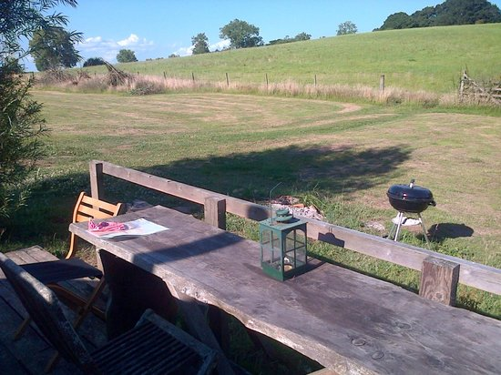 Blackdown Yurts - Yurt Holidays in Devon: View from the deck of Willow Yurt