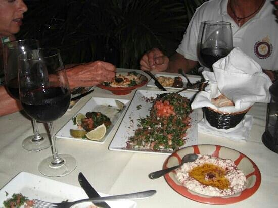 Byblos Lounge SXM: Hummus and taboule