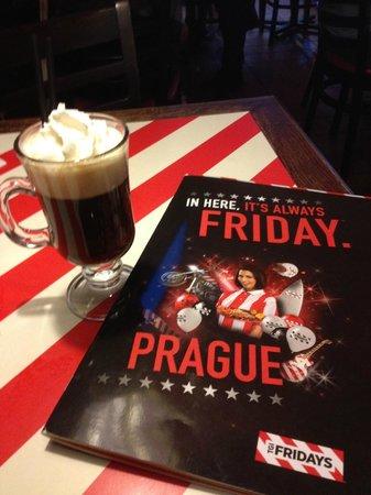 T.G.I. Friday's Andel: Irish Coffee and Menu