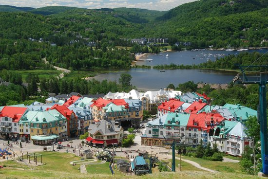 Station Mont Tremblant : Mont Tremblant from the mountain