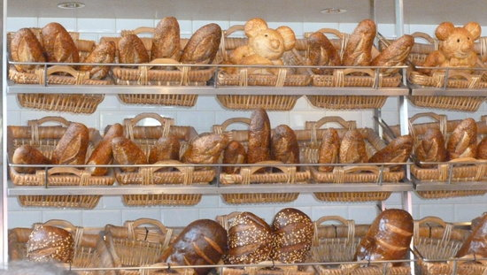 Boudin at the Wharf : The selection of sour dough bread