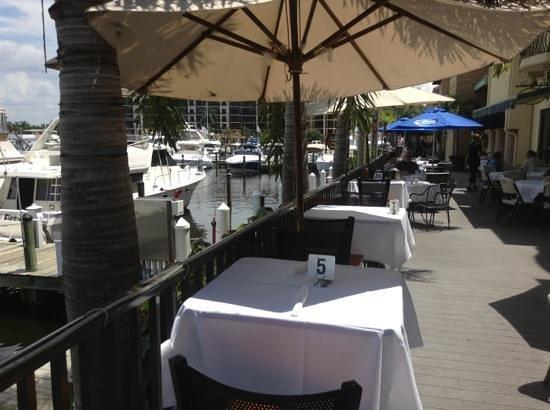 Pignoli on the Harbour: The Patio