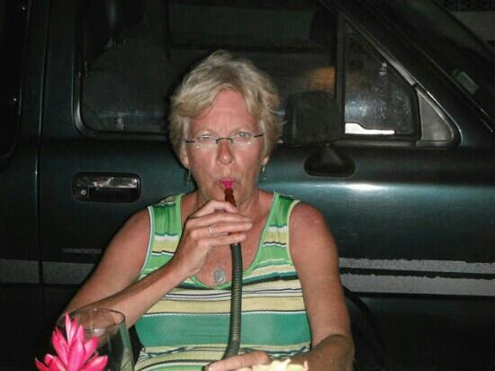 Byblos Lounge SXM: Mom with hookah