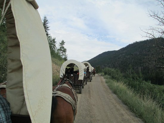 Bar J Chuckwagon Supper & Western Music Show: About a mile of trail beside lovely creek.