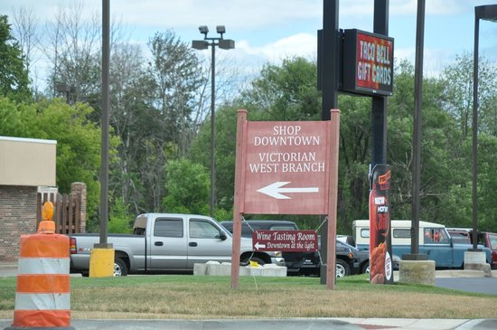 Outlets at West Branch: Sign To Mall Entrance