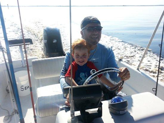 Sea Hag Marina: Papa & SyFy on The Boat