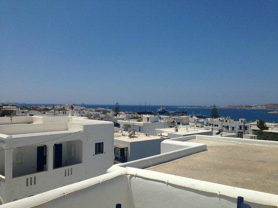 Moschoula Studios & Apartments: vista dal terrazzo