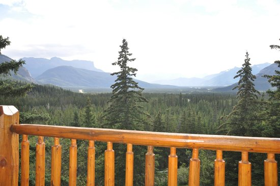 Overlander Mountain Lodge: View from room balcony (different time of day)