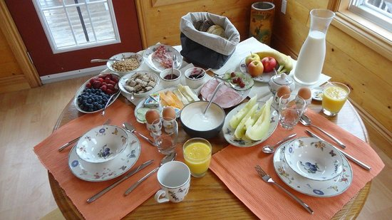L'Ancrage Bed & Breakfast : A breakfast view