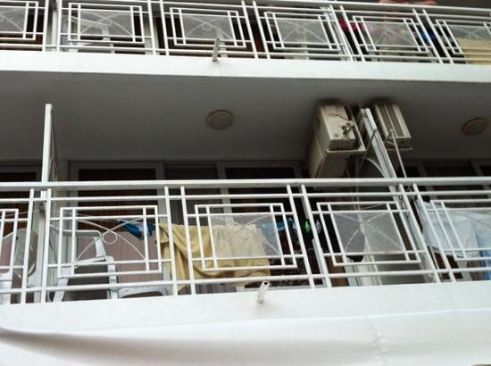 Hotel Gergana: Balkone sind nicht sehr schön!