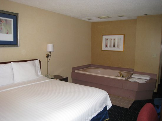 Quality Inn & Suites: bed and whirlpool tub