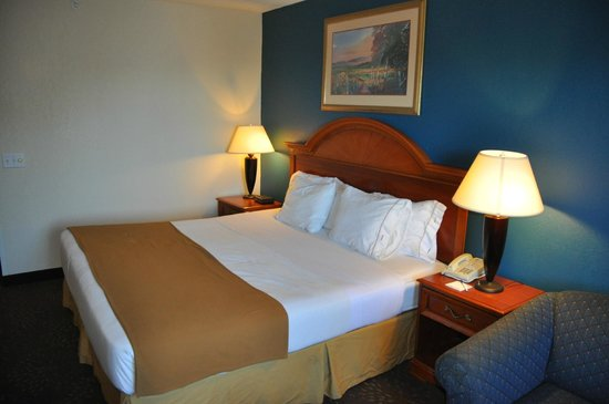 Holiday Inn Express Mackinaw City: Bedroom area