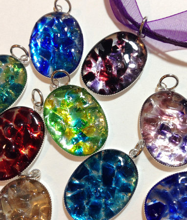 Water Candy : Crushed Glass Pendants