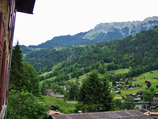 Hotel Staubbach: Valley view from our room