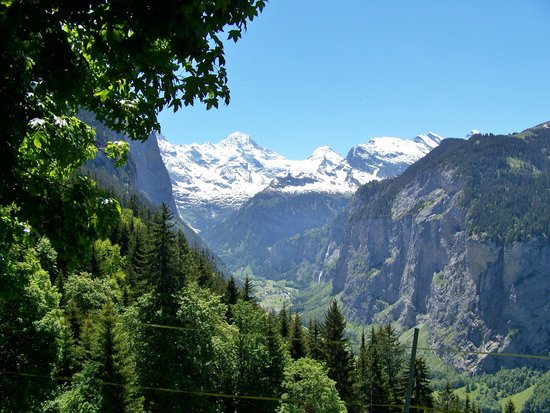 Hotel Staubbach: View of the Lauterbrunnen valley from our picnic spot near Wengen