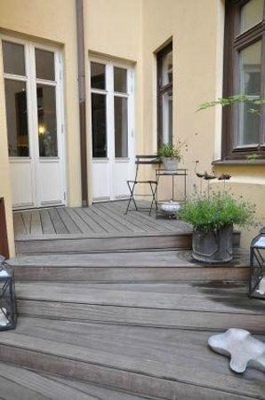 Hotel Royal Gothenburg: wenn es das Wetter zuläßt kann man draußen frühstücken