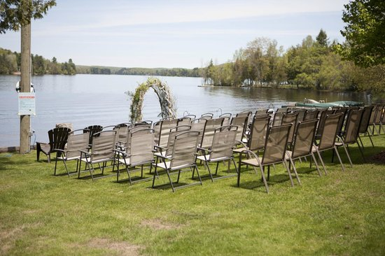 Bonnie View Inn: Wedding Ceremony Set up