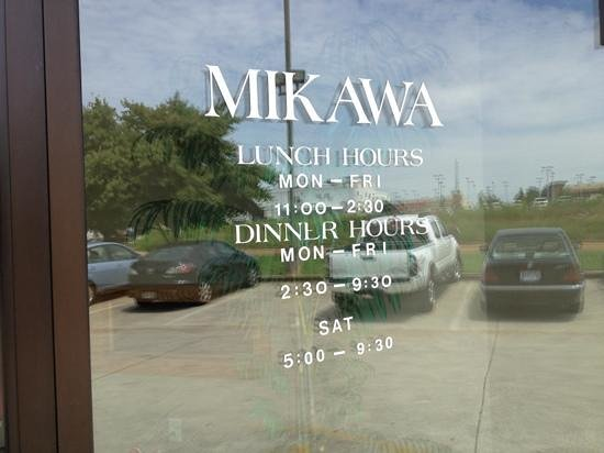 Mikawa: hours of operation