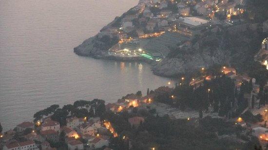 Rixos Hotel Libertas: View from cable car of Rixos Hotel
