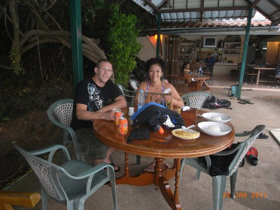 Crystal Clear Diving Phuket : Mike and I enjoying lunch!!