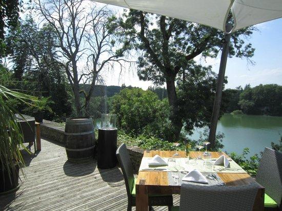 Domaine du Chatelard Restaurant: vue sur plan d'eau