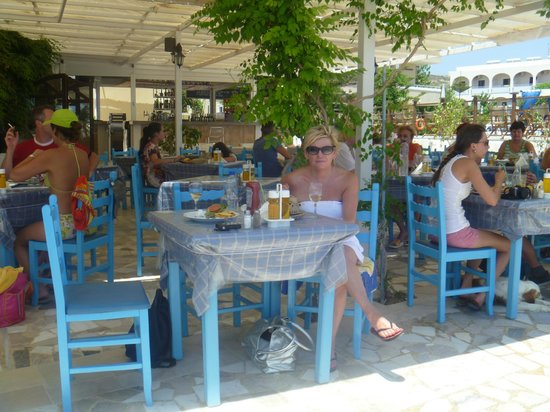 Zeus Hotel: Lunch on the beach at Antonis