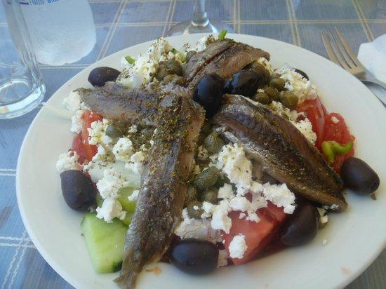 Zeus Hotel: Ndakos salad