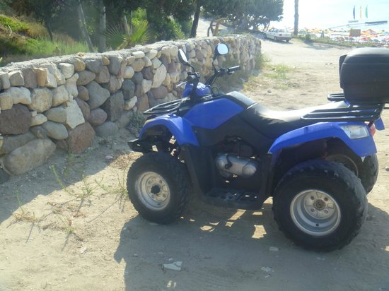 Zeus Hotel: our mode of transport  150cc Quad 18 euros to hire