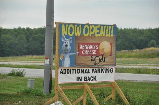 Renard's Cheese: Now Open Sign