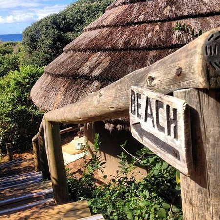Thonga Beach Lodge: The staircase down to our rondawel