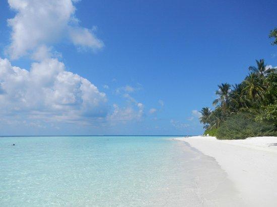 Biyadhoo Island Resort: Biyadhoo´s beach (March 2012)