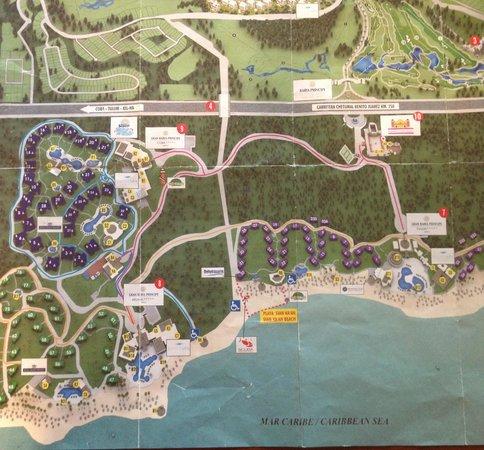 Gran Bahia Principe Riviera Maya map - Picture of Luxury Bahia ...