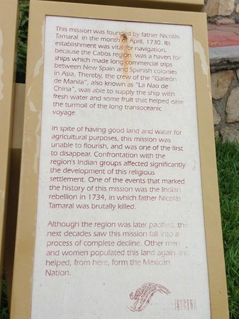 Mission of San Jose del Cabo Church: history of mission